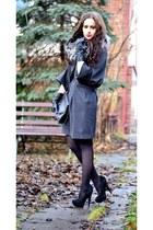 reserved jacket - Zara dress - Stradivarius bag - asos heels