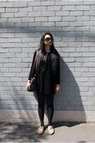 velvet vintage dress - faux fur general pants vest