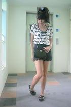 Topshop top - shorts - Topshop shoes - Chomel