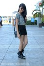 Studded-h-m-boots-highwaisted-forever-21-shorts