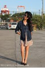 Floral-forever-21-dress-sm-accessories-hat-denim-gap-jacket