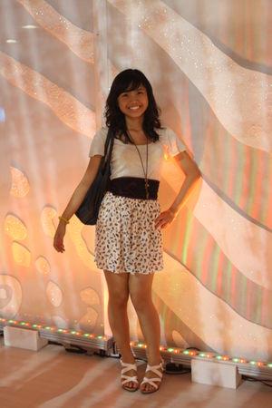 gray Folded and Hung top - white Zara Trf skirt - black maldita belt - white SO