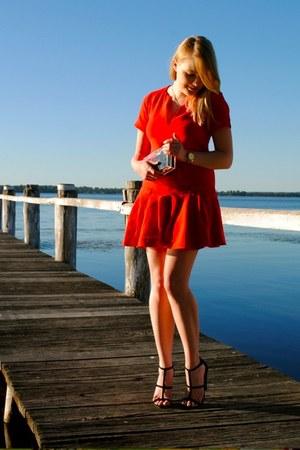 Michael Kors watch - asos dress - perspex clutch MNOLogie bag - asos heels