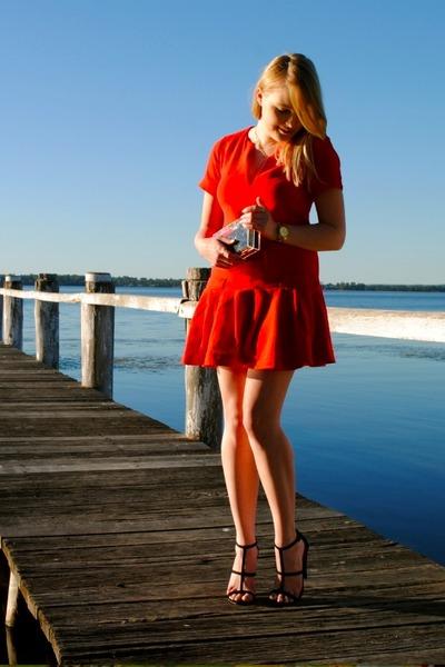 0c83e469d5e Michael Kors watch - asos dress - perspex clutch MNOLogie bag - asos heels