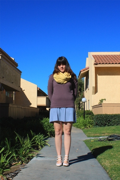 American Apparel scarf - Alexander Wang sweater - Marshalls dress - Jeffrey Camp