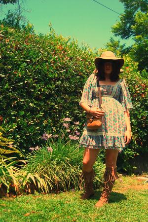 Target dress - forever 21 hat - coach purse - Aldo shoes