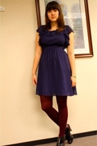 Target dress - HUE tights - forever 21 shoes