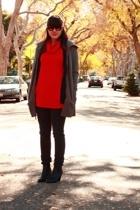 B B Dakota jacket - American Apparel dress - Cheap Monday jeans - Aldo shoes - W