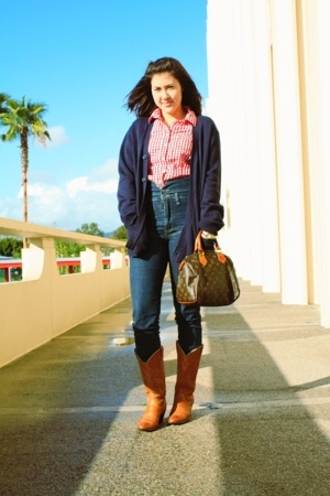 Old Navy shirt - Cheap Monday jeans - Salvation Army boots - Louis Vuitton purse