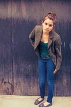 heather gray moccasins Minnetonka shoes - army green snugsize 8 apt 9 blazer - t