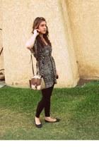 tramp dress - thrifted bag - black Mossimo flats