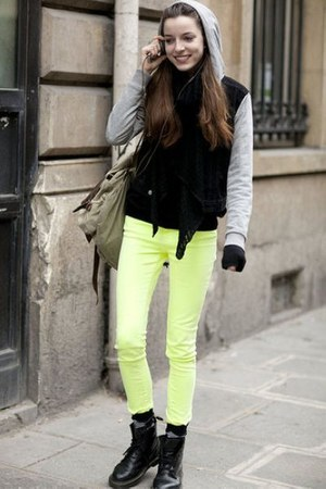 light yellow jeans