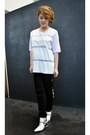 White-mesh-asos-t-shirt-black-cutout-tobi-pants