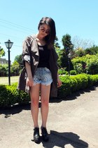 platforms Jeffrey Campbell shoes - anorak coat - studded shorts