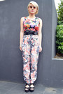 Red-floral-print-boohoo-top-black-obi-asos-belt-floral-print-asos-pants