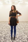 Black-ankle-sixty-seven-boots-black-fit-n-flare-free-people-dress