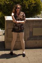 silk Dulce vita blouse - loafers Jeffrey Campbell shoes