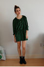 Green-dress-black-boots