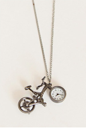 bicycle watch necklace