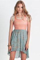 light pink high-low dress dress