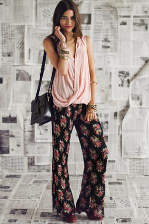 pink threadsence top - black threadsence pants