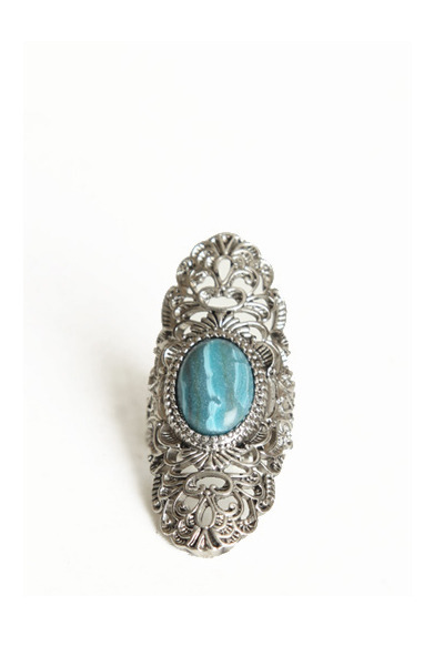 turquoise blue detailed ring