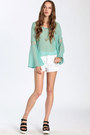 Aquamarine Tops