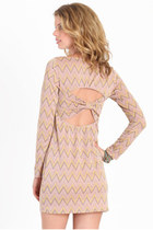 light pink printed dress