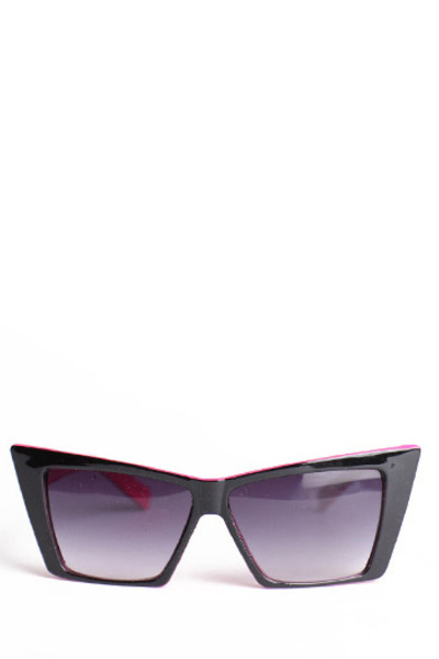 black cat-eye sunglasses