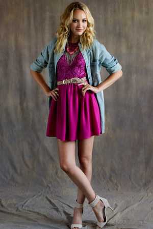 pink threadsence dress - light blue threadsence shirt