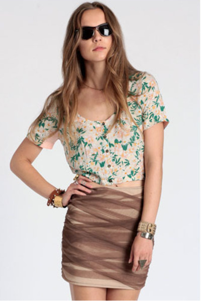 daisy crop top lucca couture top