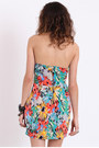 Printed Bustier Dresses