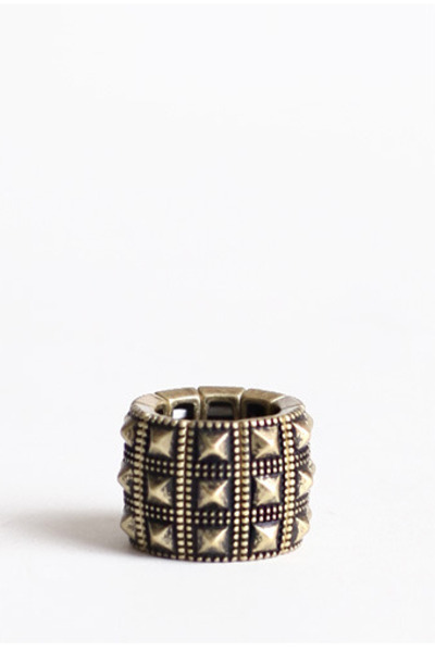light brown studded ring