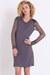 gray mesh sleeve dress