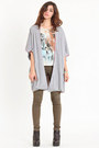 Heather Gray Twos Tone Cardigans