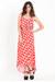 red printed maxi dress