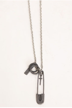 heather gray charm necklace
