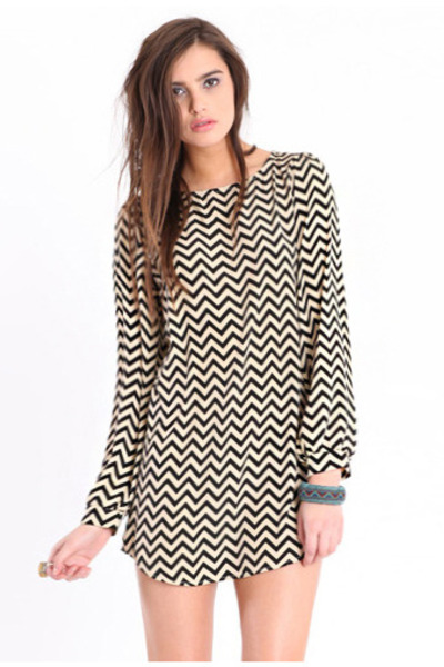 black chevron dress
