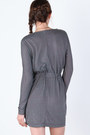 Heather Gray Long Sleeve Dresses