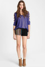 Violet Shimmer Cutout Tops