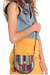 brown aztec crossbody purse