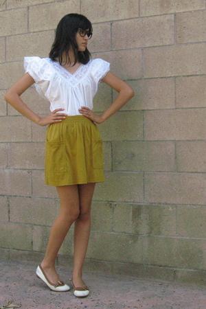 vintage blouse - American Apparel skirt