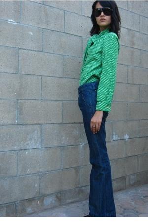 vintage blouse - Old Navy jeans