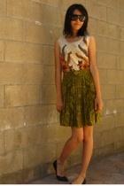 vintage blouse - Jones New York skirt - Target shoes
