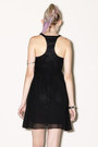 Cut-out-black-silk-dress