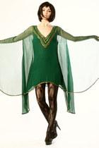 green THRIFTEDnet dress