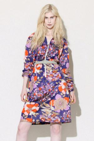 passion flower vintage dress