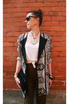 tribal Thrift Store blazer - capri Thrift Store pants - H&M top