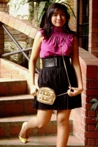 Bayo top - Forever21 skirt - Christian Louboutin shoes - Mango belt - thrifted b