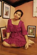 pink thrift dress
